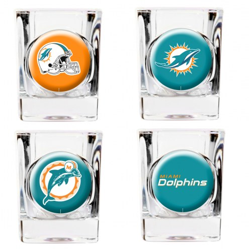 Miami Dolphins Collector's Shot Glass Set