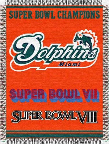 Miami Dolphins Commemorative Throw Blanket