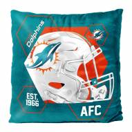 Miami Dolphins Connector Double Sided Velvet Pillow