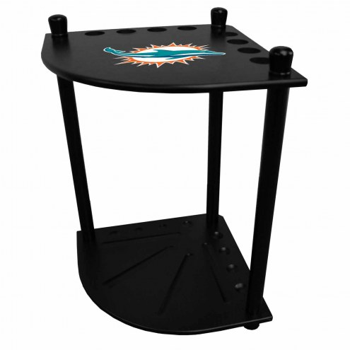Miami Dolphins Corner Pool Cue Rack