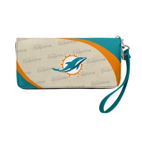 Miami Dolphins Curve Zip Organizer Wallet