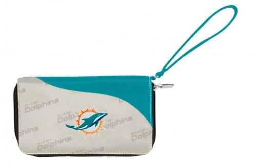 Miami Dolphins Curve Zip Wallet