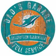 Miami Dolphins Dad's Garage Sign