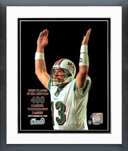 Miami Dolphins Dan Marino 400 TD Framed Photo