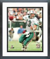 Miami Dolphins Dan Marino Dropping Back Framed Photo