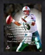 Miami Dolphins Dan Marino Framed Pro Quote