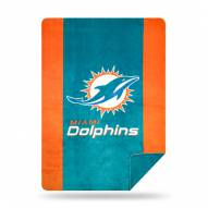 Miami Dolphins Denali Sliver Knit Throw Blanket