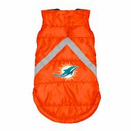 Miami Dolphins Dog Puffer Vest