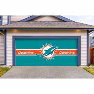 Miami Dolphins Double Garage Door Cover