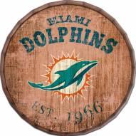 "Miami Dolphins Established Date 24"" Barrel Top"