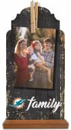 Miami Dolphins Family Tabletop Clothespin Picture Holder