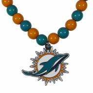 Miami Dolphins Fan Bead Necklace