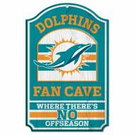 Miami Dolphins Fan Cave Wood Sign