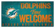 Miami Dolphins Fans Welcome Sign