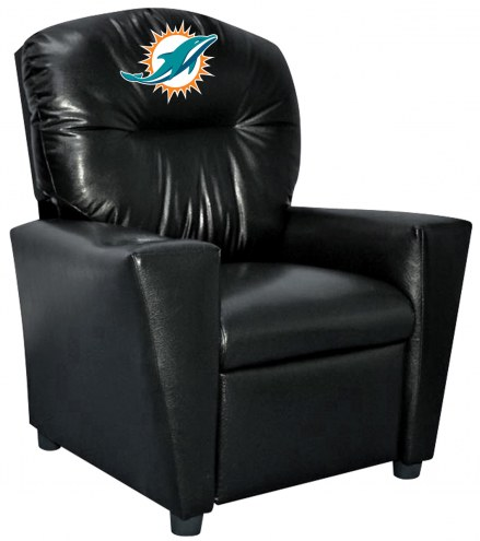 Miami Dolphins Faux Leather Kid's Recliner