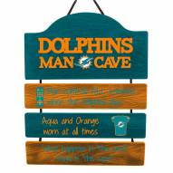 Miami Dolphins Man Cave Fan Zone Wood Sign