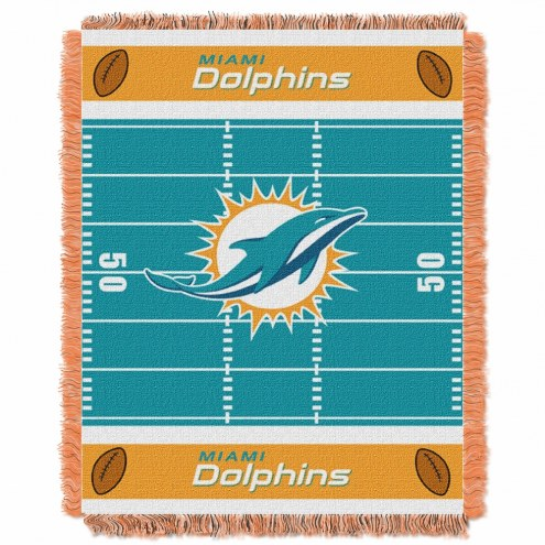 Miami Dolphins Field Baby Blanket