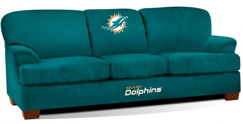 Miami Dolphins First Team Microfiber Sofa