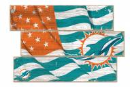 Miami Dolphins Flag 3 Plank Sign