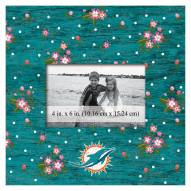 """Miami Dolphins Floral 10"""" x 10"""" Picture Frame"""