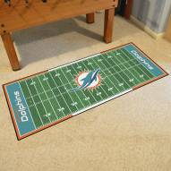 Miami Dolphins Football Field Runner Rug