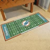 Miami Dolphins Football Field Runner Rug