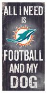 Miami Dolphins Football & My Dog Sign