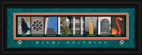 Miami Dolphins Framed Letter Art