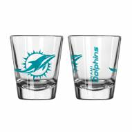 Miami Dolphins Satin Etch Shot Glass Set