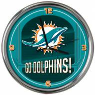 Miami Dolphins Go Team Chrome Clock