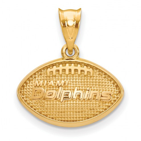 Miami Dolphins Gold Plated Football Pendant
