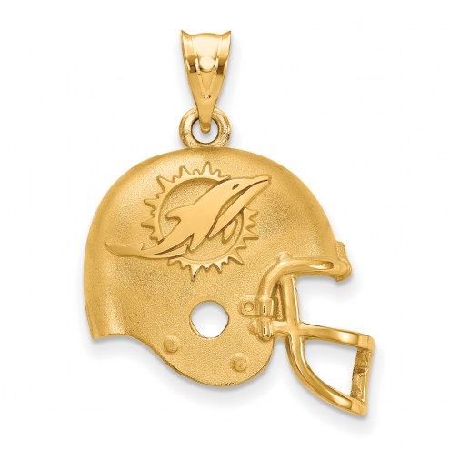 Miami Dolphins Gold Plated Helmet Pendant