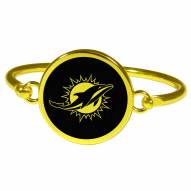 Miami Dolphins Gold Tone Bangle Bracelet