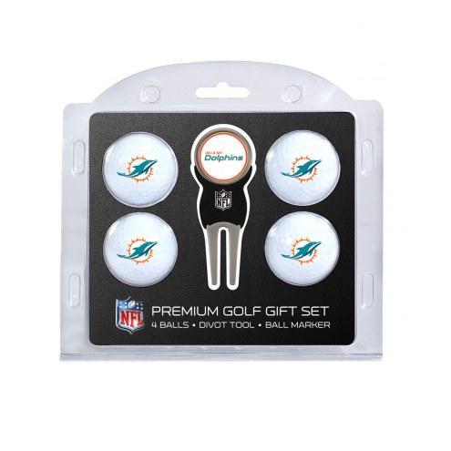 Miami Dolphins Golf Ball Gift Set