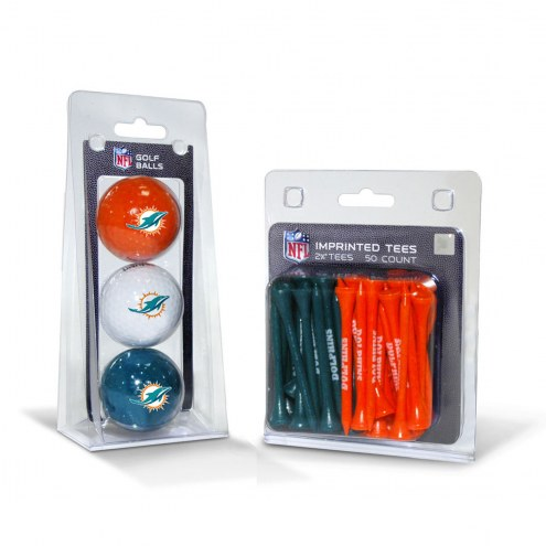 Miami Dolphins Golf Ball & Tee Pack