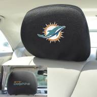 Miami Dolphins Headrest Covers