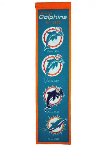 Miami Dolphins Heritage Banner