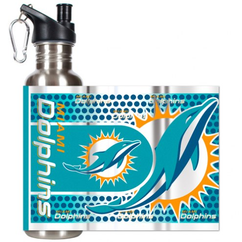 Miami Dolphins Hi-Def Stainless Steel Water Bottle