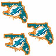 Miami Dolphins Home State Decal - 3 Pack