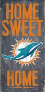 Miami Dolphins Home Sweet Home Wood Sign