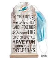 Miami Dolphins In This House Mask Holder