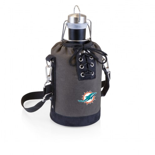 Miami Dolphins Insulated Growler Tote with 64 oz. Stainless Steel Growler