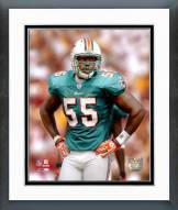 Miami Dolphins Joey Porter 2007 Action Framed Photo
