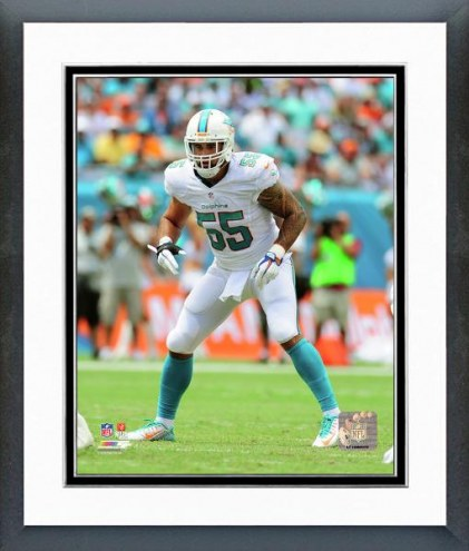 Miami Dolphins Koa Misi Action Framed Photo