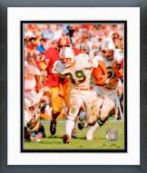 Miami Dolphins Larry Csonka Action Framed Photo