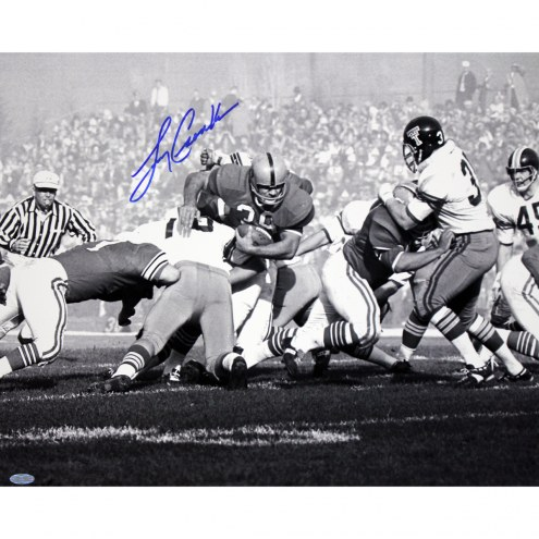 "Miami Dolphins Larry Csonka Black & White Signed 16"" x 20"" Photo"
