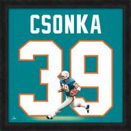 Miami Dolphins Larry Csonka Uniframe Framed Jersey Photo