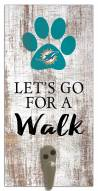 Miami Dolphins Leash Holder Sign