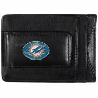 Miami Dolphins Leather Cash & Cardholder