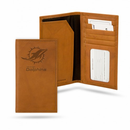 Miami Dolphins Leather Roper Wallet